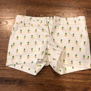 Blue Rain white pineapple shorts
